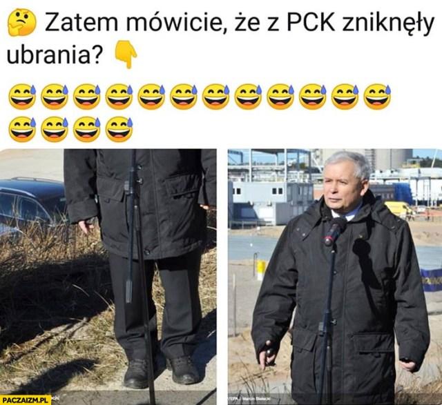 Zatem mówicie, że z PCK zniknęły ubrania Kaczyński w za dużej kurtce -  Paczaizm.pl