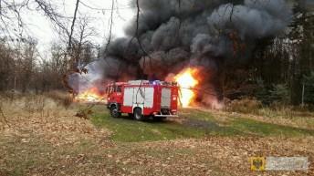"""Kolejny pożar na terenie dawnego ośrodka """"Irys"""" w Paczkowie"""