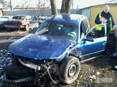 19-latka sprawczynią wypadku na obwodnicy. Foto: KPP Nysa