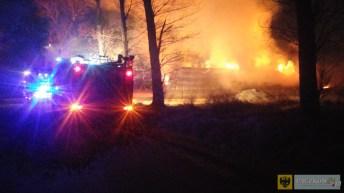 Pożar sterty słomy między Unikowicami a Ujeźdźcem