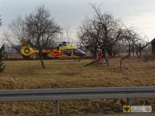 Śmigłowiec Lotniczego Pogotowia Ratunkowego lądował na ul. Robotniczej