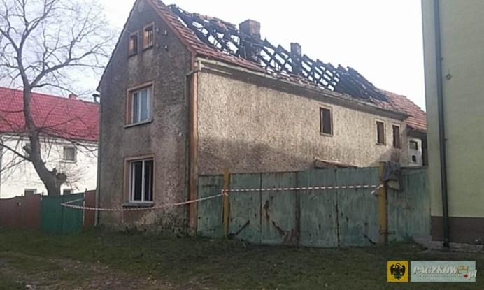 Pożar strawił niemal doszczętnie jeden z domów w Starym Paczkowie