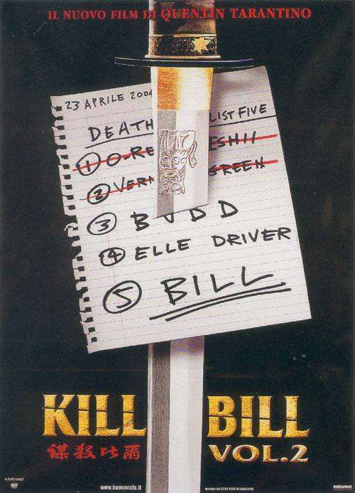 Locandina Kill Bill - Volume 2