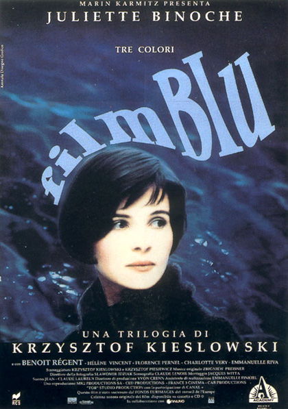 Locandina italiana Tre colori - Film blu