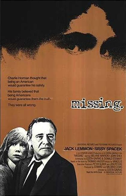 Locandina italiana Missing - (Scomparso)