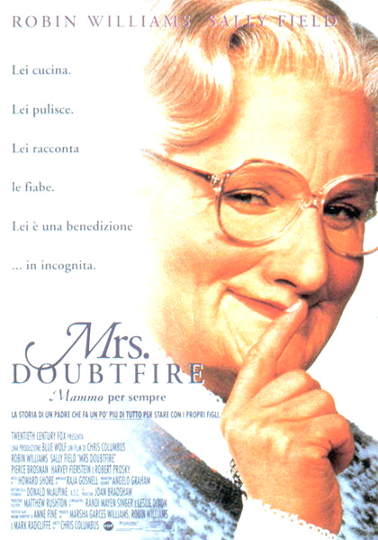 Locandina Mrs. Doubtfire (Mammo per sempre)