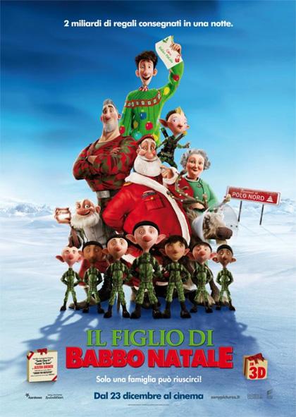 Locandina italiana Il figlio di Babbo Natale 3D