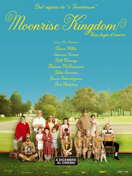 Locandina italiana Moonrise Kingdom - Una fuga d'amore