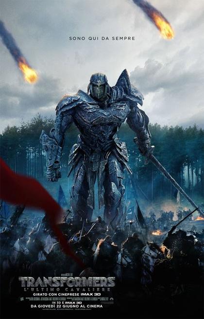 Locandina italiana Transformers - L'ultimo cavaliere