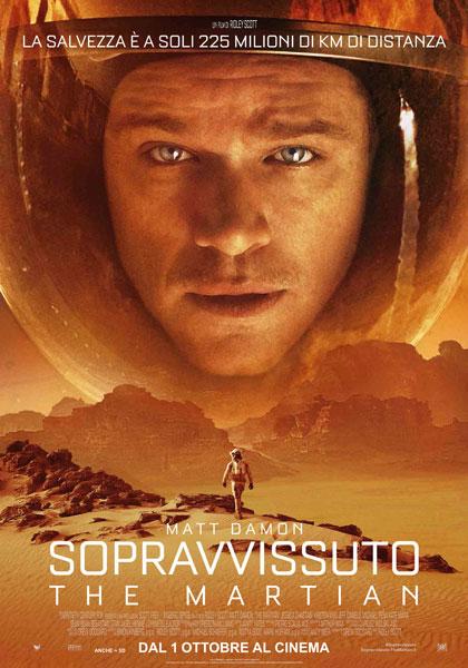 Locandina italiana Sopravvissuto - The Martian