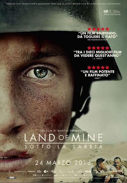 Locandina italiana Land of Mine - Sotto la sabbia