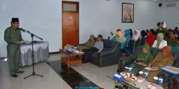 Penilaian RSIA Rizki Bunda Agam oleh tim provinsi. (fajar)