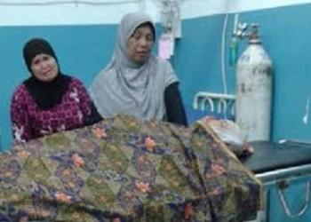 Korban kecelakaan maut di Lubuk Basung, Kamis (31/12) malam. (jar)