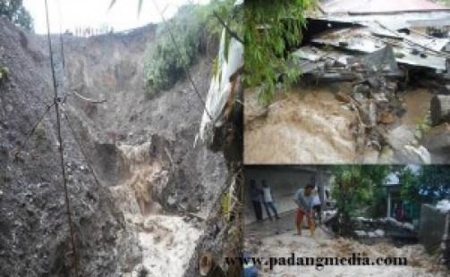 Longsor di Blok Ombilin Gunung Timbago, Kel.Saringan Kota Sawahlunto. (tumpak)