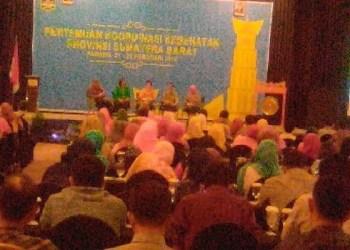 Pertemuan kesehatan provinsi Sumbar 2016. (baim)