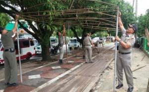 Penertiban Lapak PKL di depan RSUD Lubuk Basung