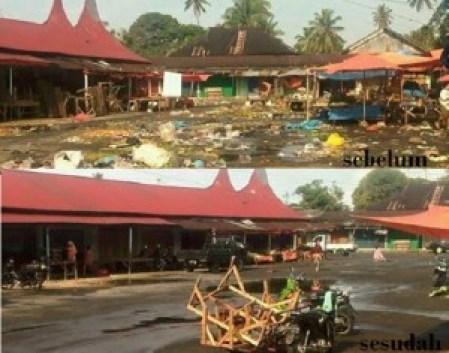 Pasar lama Lubuk Basung. (fajar)