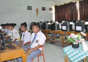 UN Berbasis Komputer (UNBK) di salah satu sekolah. (dok)