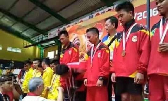 Kontingen barongsai Sumbar pada pertandingan eksebisi di PON XIX 2016 Jawa Barat. (ist)