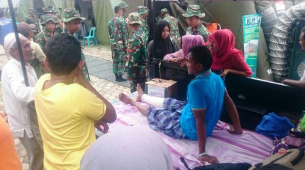 Situasi di lokasi pengungsian pasca gempa di Pidie Jaya, Aceh. (Sutopo PN)