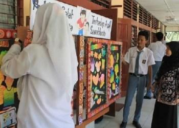 Suasana di salah satu SMA Negeri di Kota Sawahlunto. (tumpak)