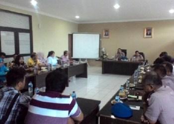 Rakor Polresta Padang menyikapi rencana aksi bela Islam Ranah Minang. (baim)