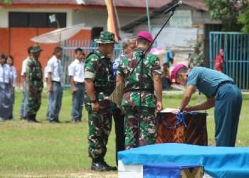 Penutupan kegiatan TMMD di Kab.Kepulauan Mentawai. (ers)