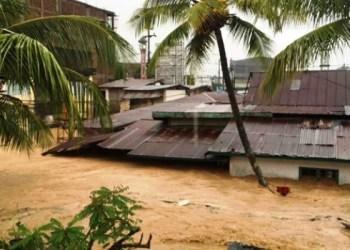 Banjir di Kota Kendari (Sultra), Rabu (31/5). (Sutopo PN)