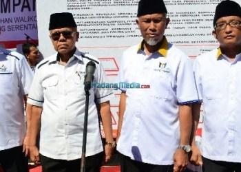 Kedua paslon Pilkada Padang 2018. (der)