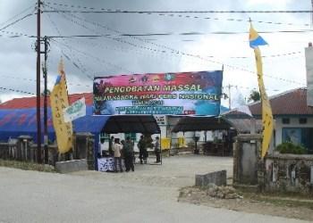 Kegiatan pengobatan massal di Mentawai. (ers)