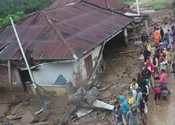 Kondisi pasca banjir bandang di Ranah Batu, Nagari Tanjuang Bonai, Kec.Lintau Buo Utara. (ist)