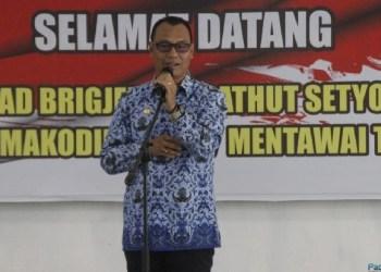 Bupati Mentawai, Yudas Sabaggalet. (ers)
