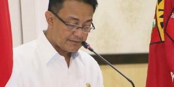 Bupati Agam Indra Catri saat menyampaikan LKPj tahun 2018 di hadapan anggota DPRD Agam, Rabu (27/3). (fajar)