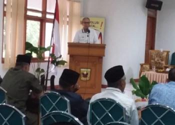 Bupati Tanah Datar Irdinansyah Tarmizi saat membuka musrenbang Kabupaten Tanah Datar. (ries)