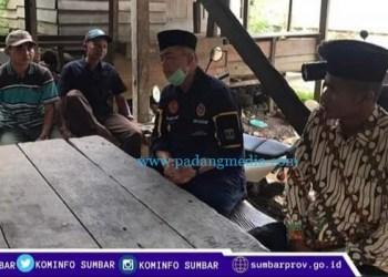 Wakil Gubernur Sumbar Nasrul Abit berkunjung ke Nagari Garabak Data Kecamatan Tigo Lurah, Solok, Senin (10/8/2020). (Diskominfo SB)