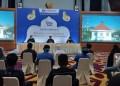 Media Briefing Bank Indonesia wilayah Sumbar terkait kesiapam menghadapi Ramadan dan Idulfitri, Senin (26/4/2021). (Febry)