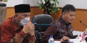 Pertemuan tingkat tinggi TPID Provinsi dan TPID kabupaten/ kota se-Sumbar, Kamis (23/9/2021). (ist)