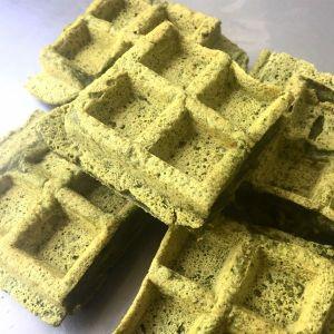 Waffle de espinafre