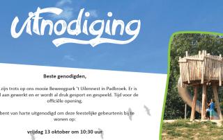 Uitnodiging opening Beweegpark