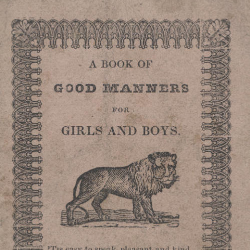 Book of Good Manners, for Girls and Boys, page 1