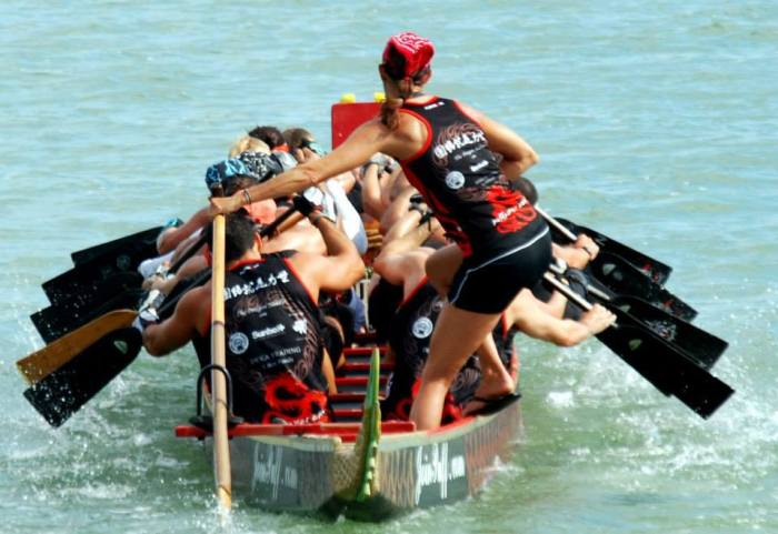 Steering a dragon boat
