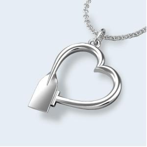 Paddle heart pendant