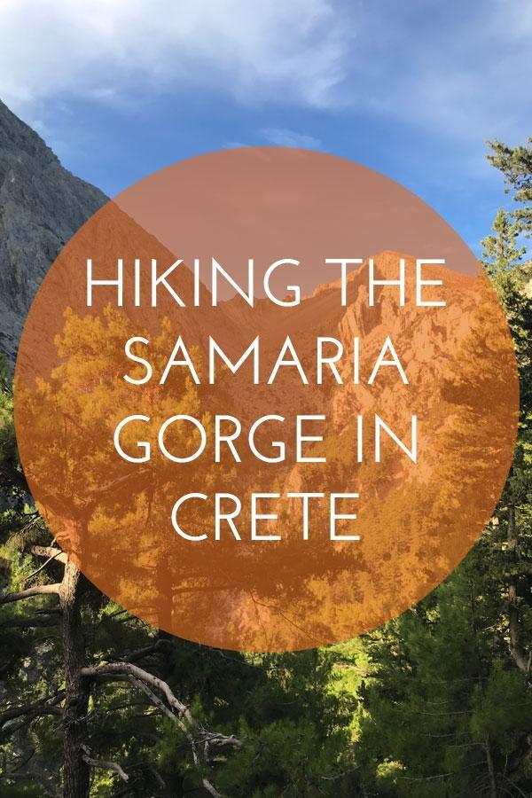 Hiking the Samaria Gorge