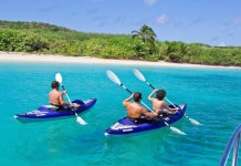 Aquaglide Columbia XP Two Inflatable Kayak - 2-person and solo paddling