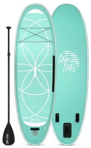 Ten Toes YOGI 10' Xtra Wide Inflatable Stand Up Paddleboard - Seafoam color