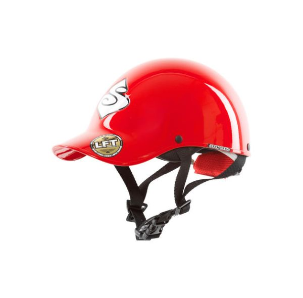 Strutter Helmet | Red | Side View