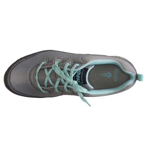 Women's Ahnu Sugarpine Air Mesh Hiking Shoe | Medium Grey | Top View