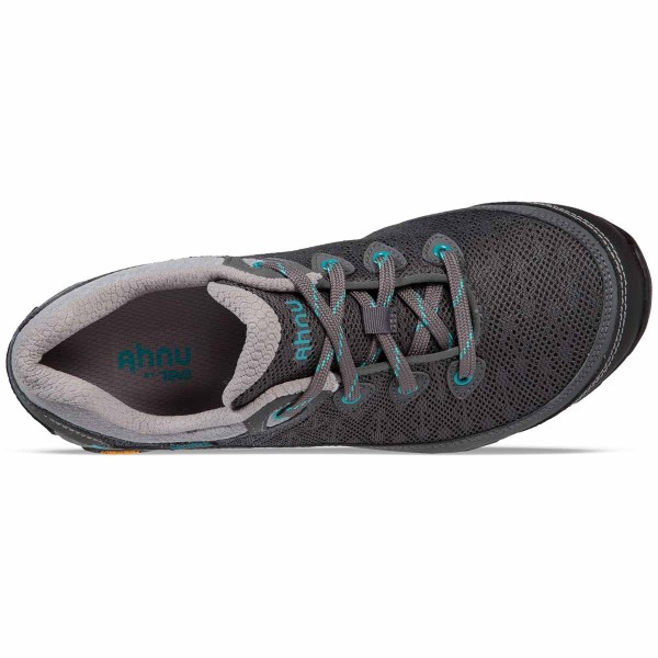 Women's Ahnu by Teva Sugarpine II Air Mesh Hiking Shoe | Dark Shadow | Top View