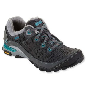 Women's Ahnu by Teva Sugarpine II Air Mesh Hiking Shoe | Dark Shadow | Side View