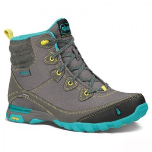 Women's Ahnu Sugarpine Waterproof Hiking Boot | Dark Grey | Side View